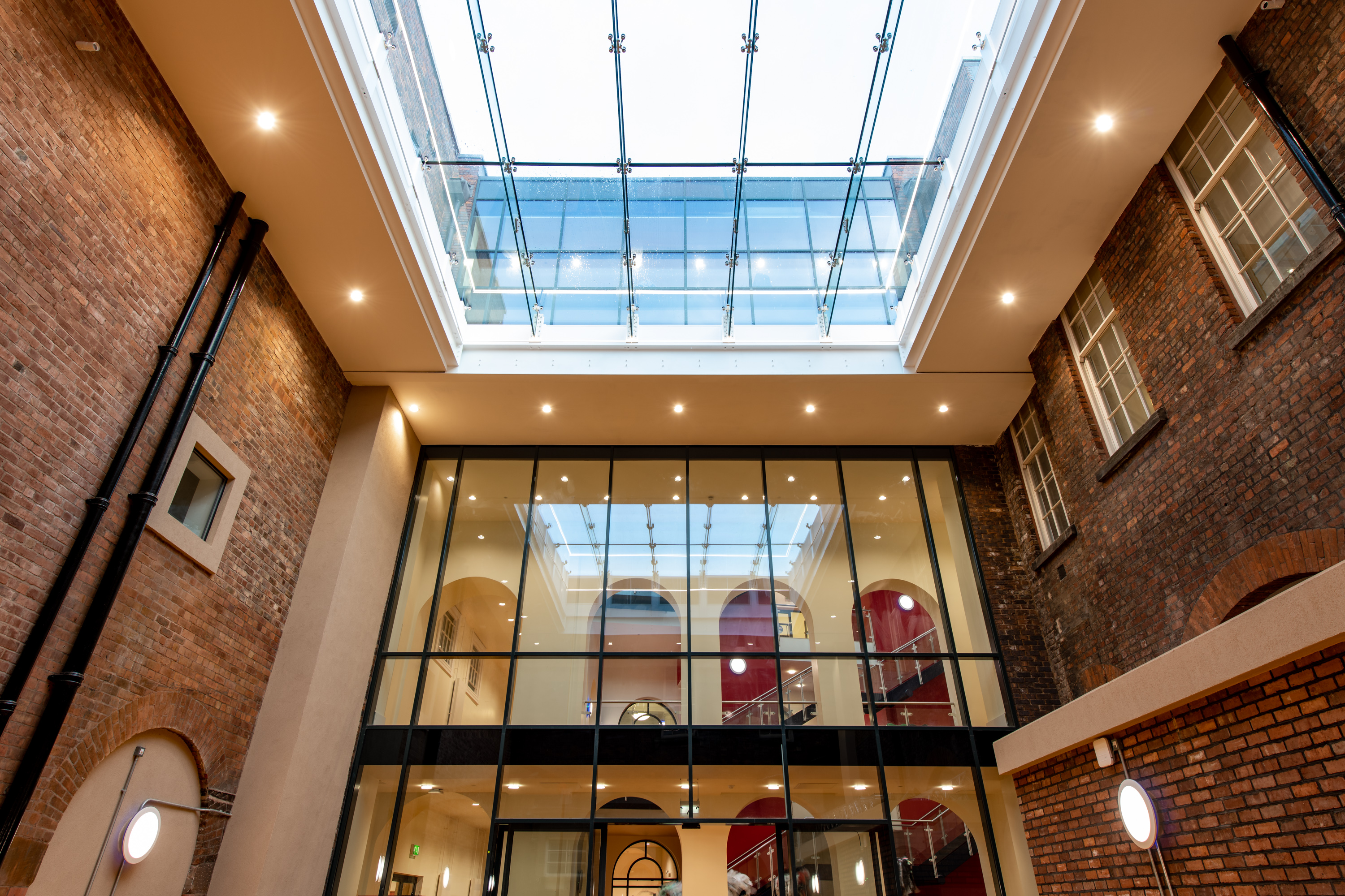British Glass member Pilkington UK has helped transform the courtyard at the Liverpool Institute for Performing Arts