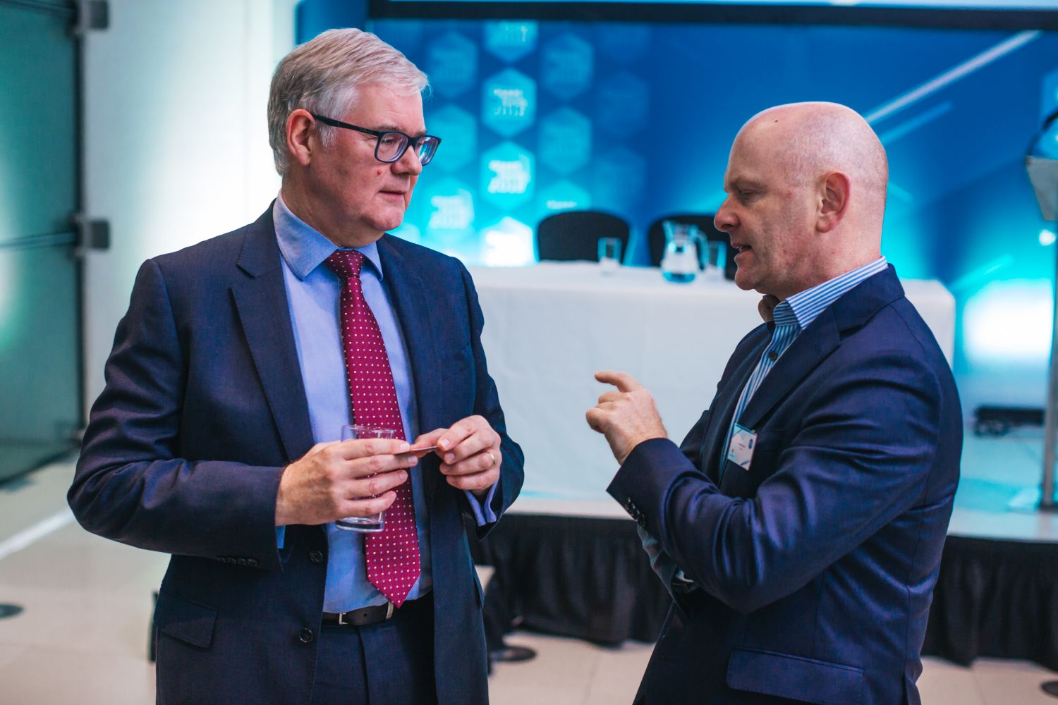Graham Hillier of the Centre for Process Innovation alongside Encirc's Adrian Curry