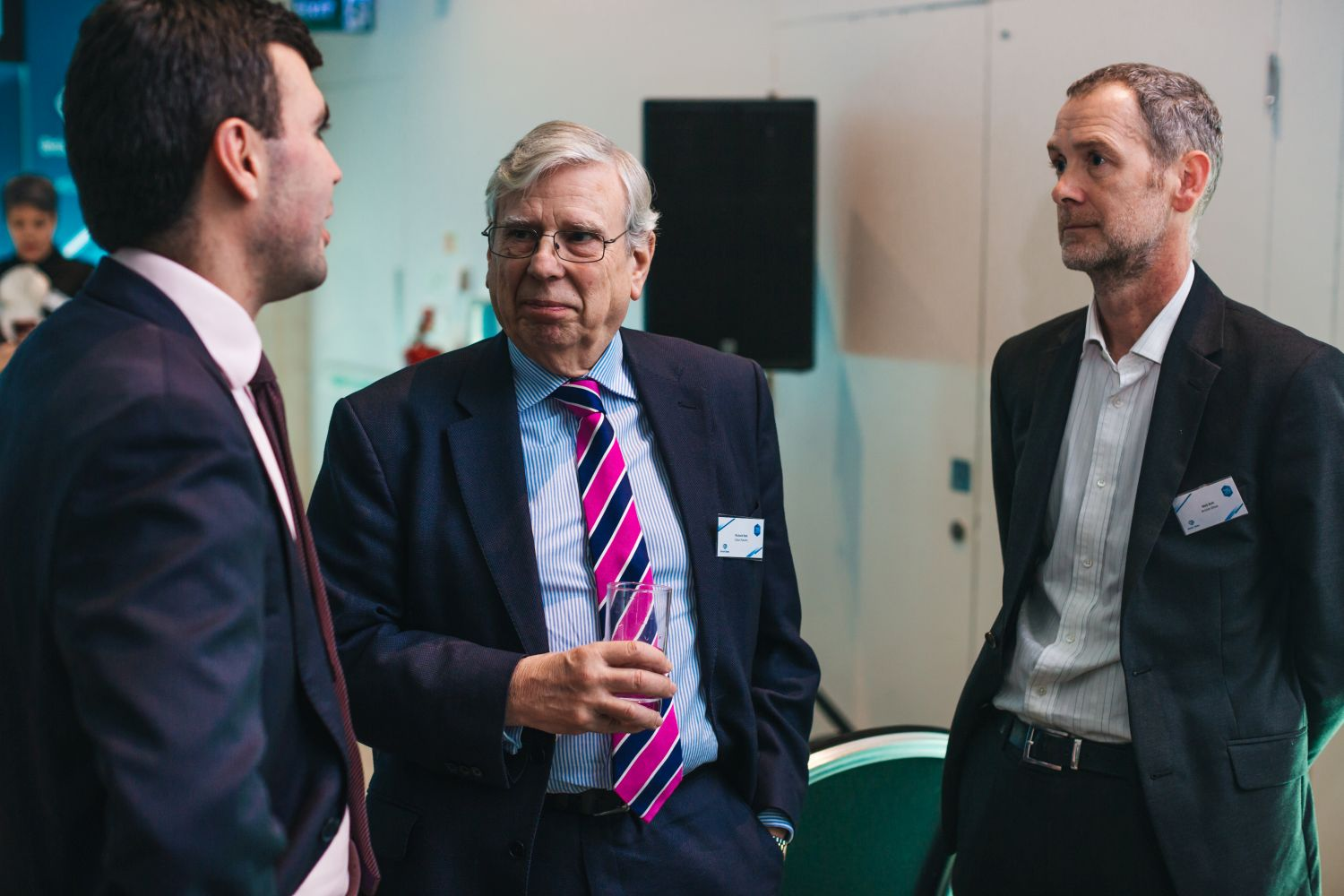 Glass Technology Services Ltd's Chris Sorsby with Richard Katz of Glass Futures and British Glass's Nick Kirk