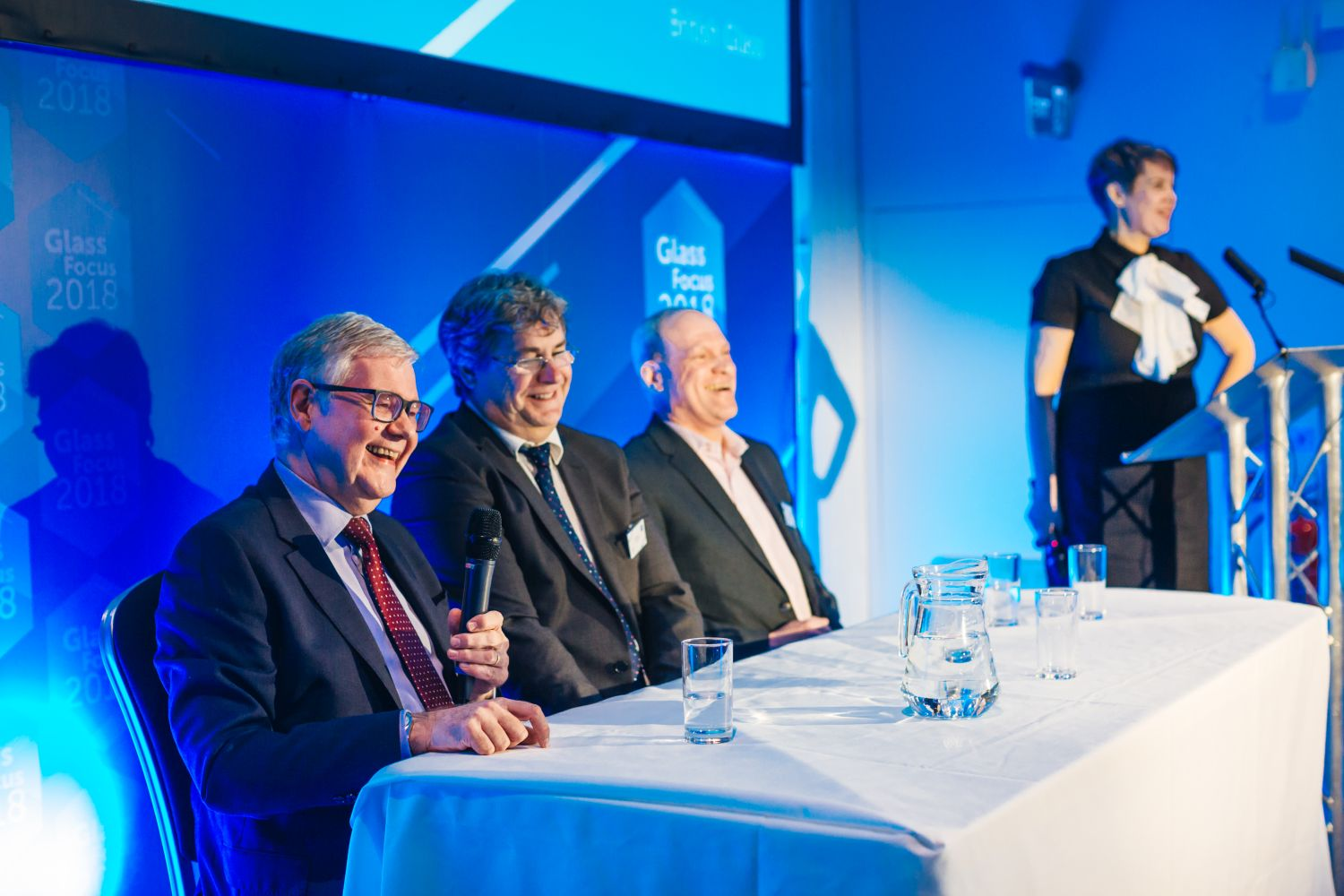 Graham Hillier - Centre for Process Innovation, Dave Dalton - British Glass, Alan Norbury - Siemens, and Isla Wilson - Ruby Star Associates