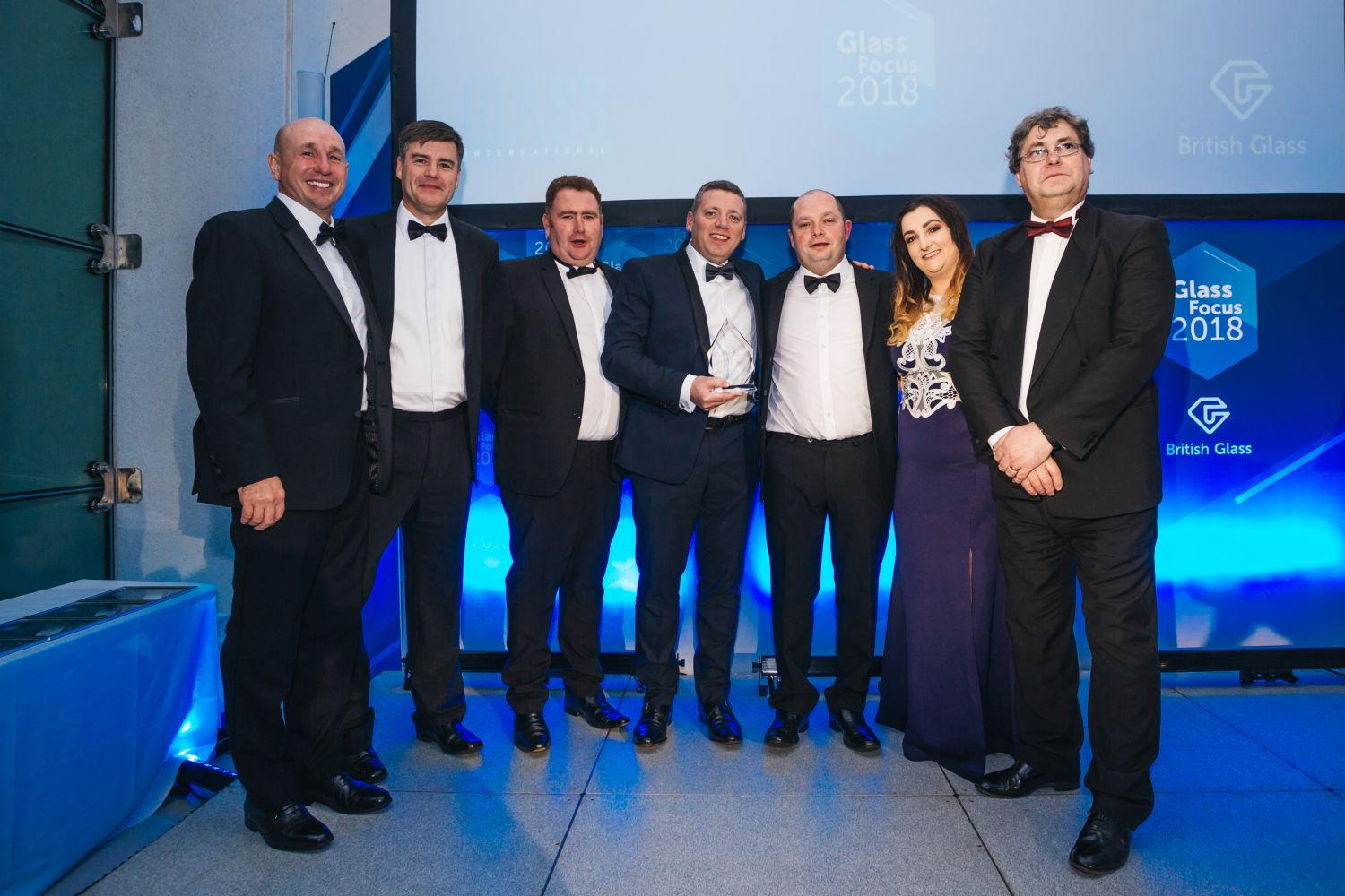British Glass Company of the Year Electric Glass Fibre UK. and Dave Dalton of British Glass