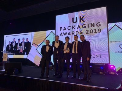 Several members of British Glass were victorious at the Packaging Awards 2019