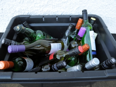 European households have seen an increase in glass recycling during the lockdown period