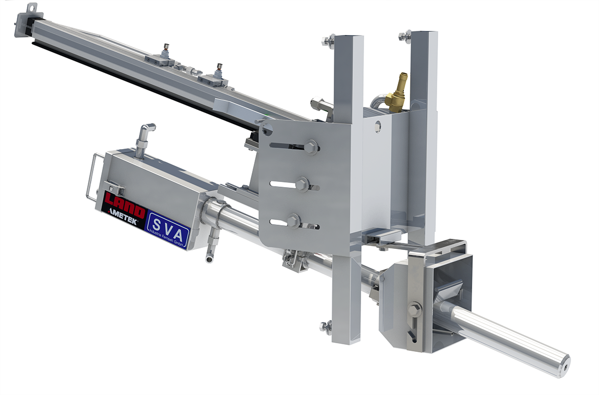 Housing and pneumatic auto-retraction system for AMETEK Land's renowned NIR-B Glass thermal imaging solution