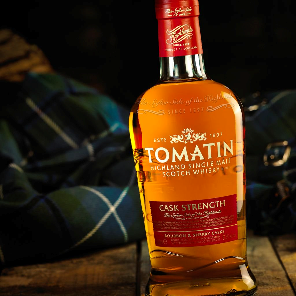 Tomatin Distillery's new whisky bottle manufactured by Allied Glass