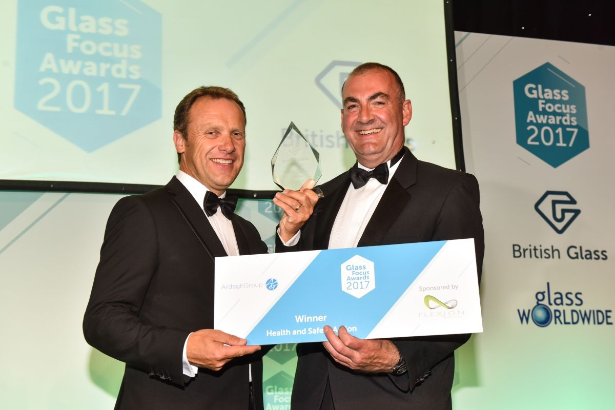 Ardagh Group collects the Glass Focus Award for Health and Safety Action
