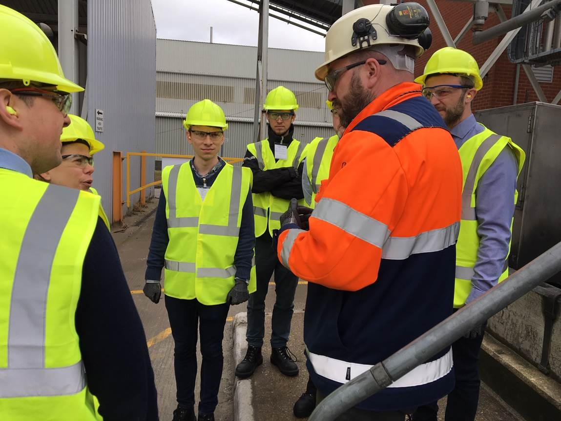 Members of the BEIS and British Glass teams on site at Saint-Gobain