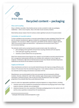 Recycled content fact sheet