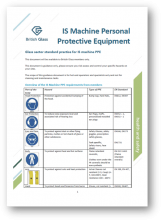 IS machine PPE guidance