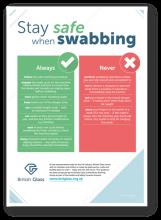 Safe swabbing poster