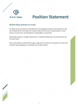 British Glass position statement on reusable and refillable glass packaging