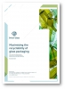 The front cover of our maximising the recyclability of glass packaging